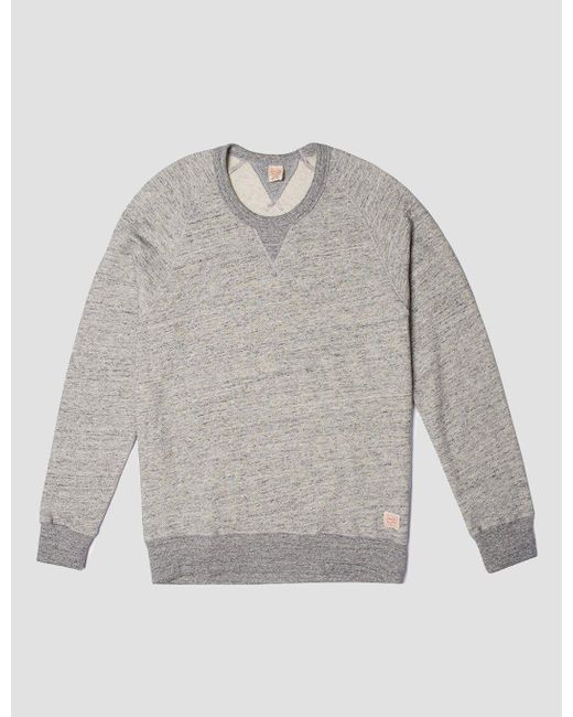 Deus Ex Machina - Gray Terry Slub Sweatshirt for Men - Lyst