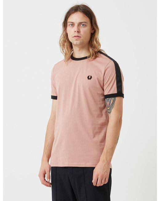 ... hot new products a753f 55ed0 Fred Perry - Gray Tonal Taped Ringer T- shirt for ... bcc3b07801a0