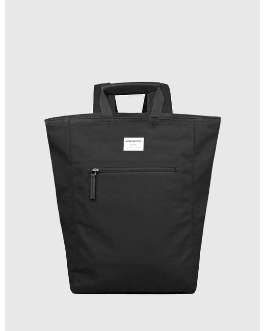 Sandqvist - Black Tony Tote Bag (canvas) for Men - Lyst