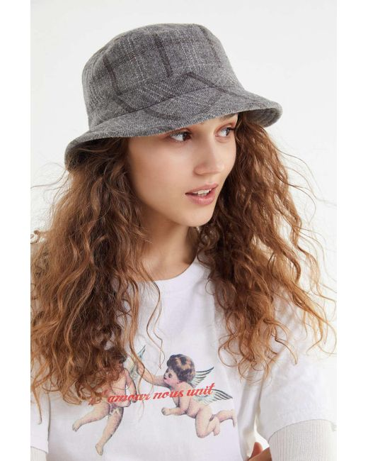 18f0cbb8c63e4 ... Brixton - Gray Hardy Bucket Hat - Lyst ...