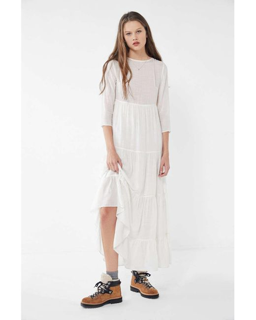 0cc867469a9 Urban Outfitters - White Uo Josie Tiered Ruffle Maxi Dress - Lyst ...