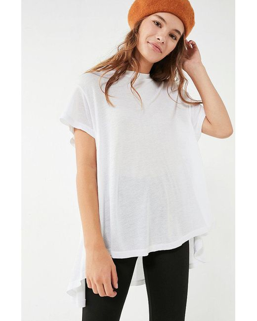Urban Outfitters | White Uo Taro Babydoll Tee | Lyst