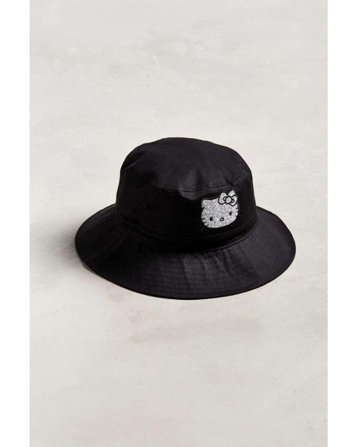 ba059f08383 Urban Outfitters - Black Hello Kitty X Keith Haring Bucket Hat for Men -  Lyst ...