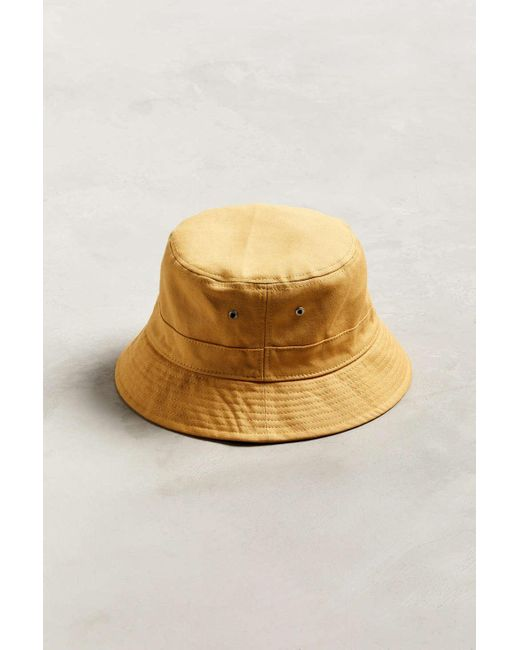 ee1ce145f5408 ... Urban Outfitters - Metallic Uo Canvas Bucket Hat for Men - Lyst ...
