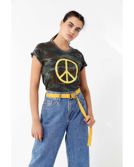 Truly Madly Deeply - Multicolor Camo Peace Tee - Lyst