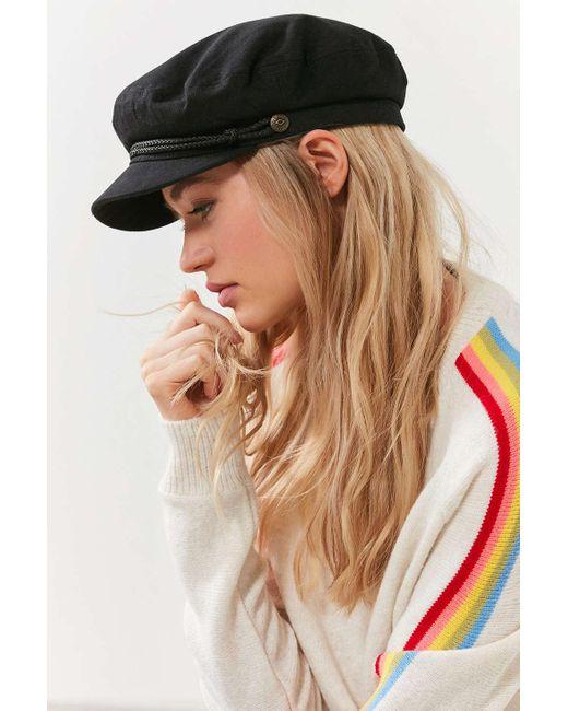 6704e96b06c ... Brixton - Black Fiddler Cotton Fisherman Hat - Lyst ...