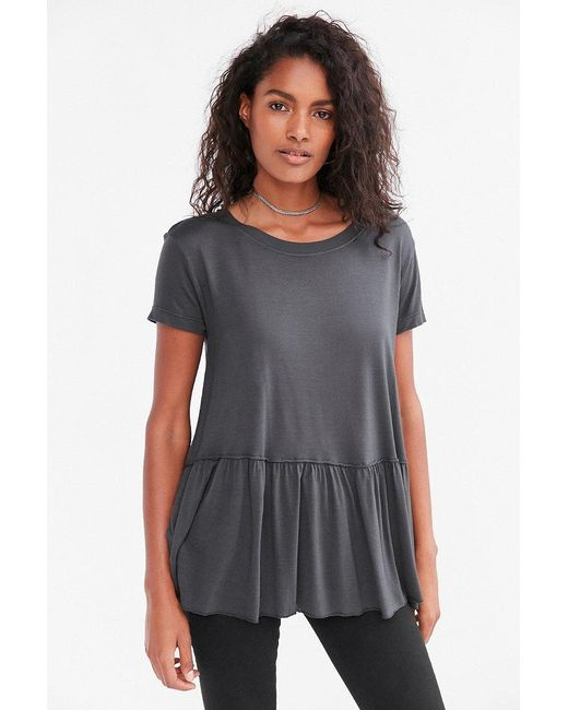 Truly Madly Deeply | Black Dusty Road Peplum Tee | Lyst