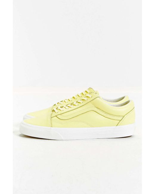 Vans Old Skool Round Toe Leather Sneakers In Yellow - Save 30% | Lyst