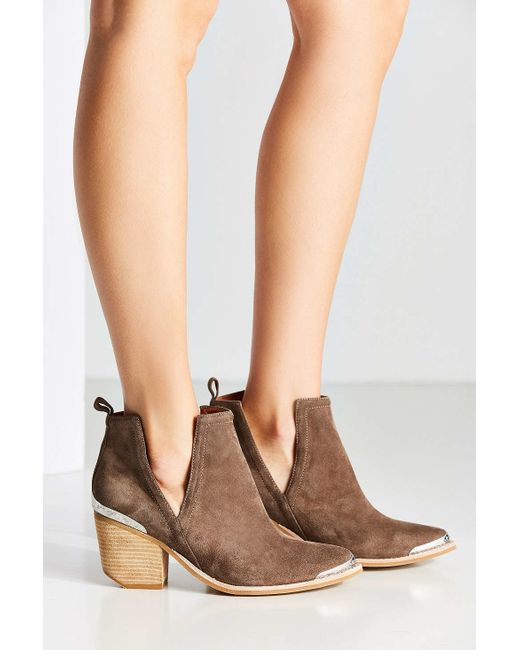 Jeffrey Campbell Cromwell Western Cutout Ankle Boot In