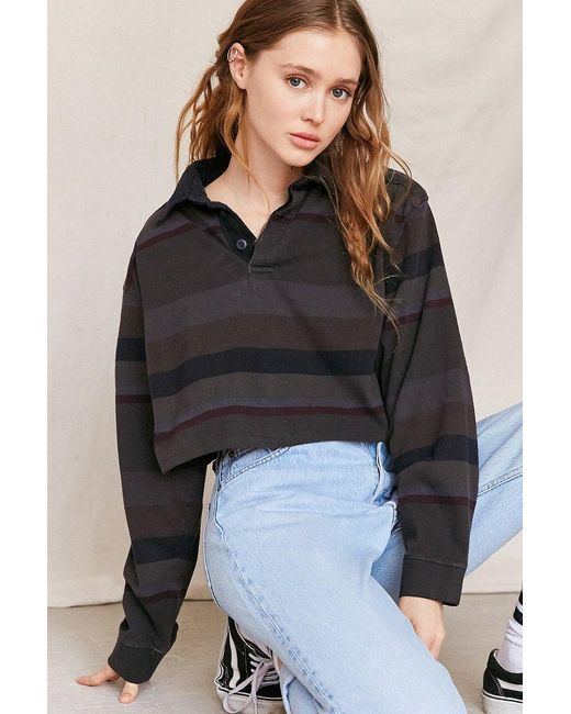 Urban Renewal   Multicolor Remade Assorted Cropped Rugby Shirt   Lyst