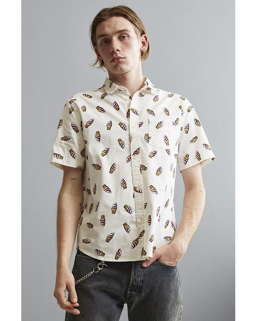 Urban outfitters Uo Ice Cream Cone Short Sleeve Button-down Shirt ...