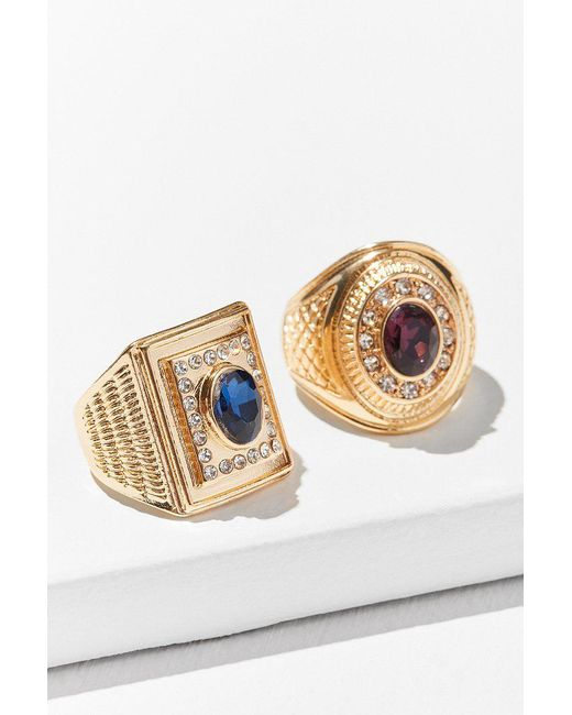 Urban Outfitters | Blue Collegiate Ring Set | Lyst
