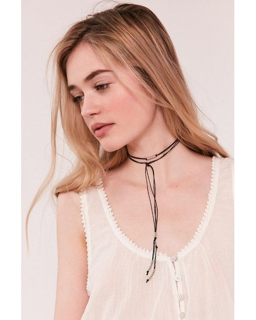 Urban Outfitters | Black Beaded Wrap Choker Necklace | Lyst