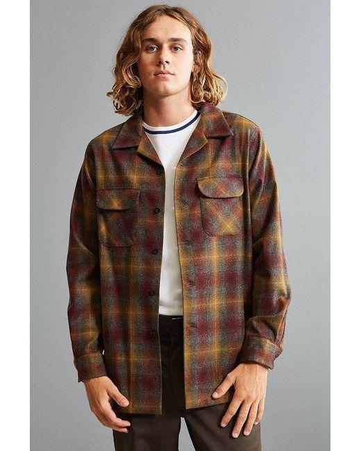Pendleton | Brown Original Board Flannel Button-down Shirt for Men | Lyst