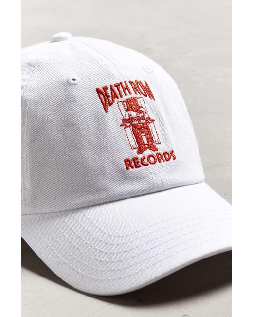 ... Urban Outfitters - White Death Row Records Dad Baseball Hat for Men -  Lyst ... 34db1d4bebb
