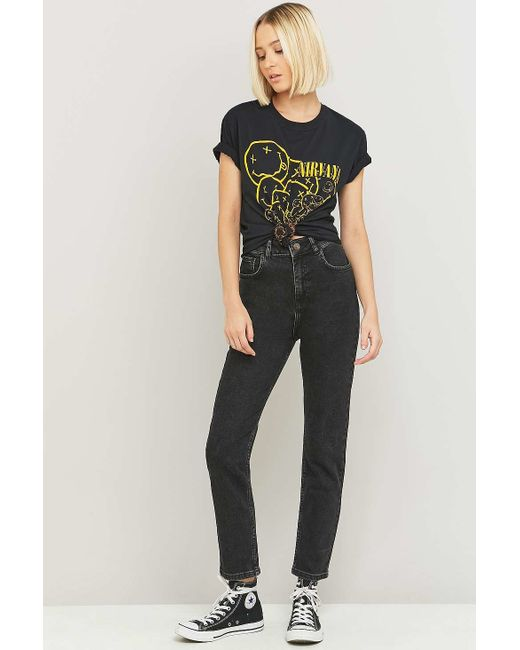 BDG | High-waisted Washed Black Girlfriend Jeans | Lyst