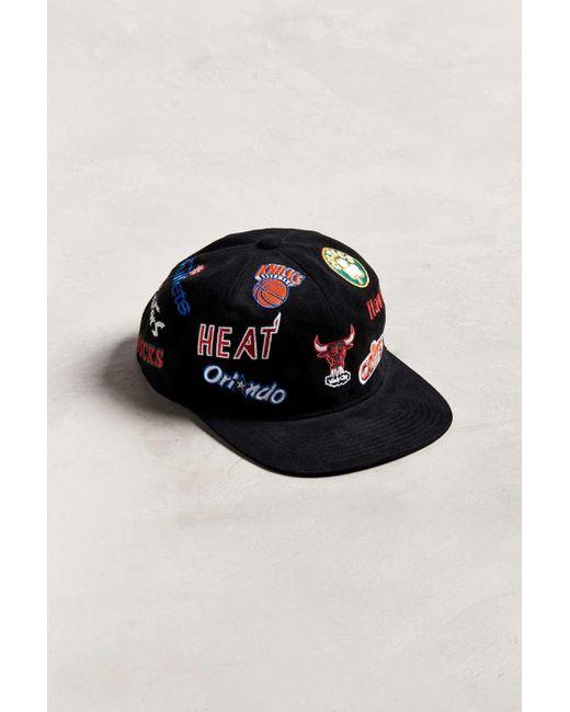 Lyst - Mitchell   Ness Allover Eastern Snapback Hat in Black for Men 62fe6e64927f
