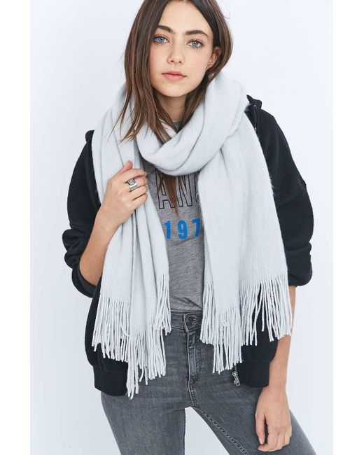 Urban Outfitters | Blue Soft Furry Scarf | Lyst