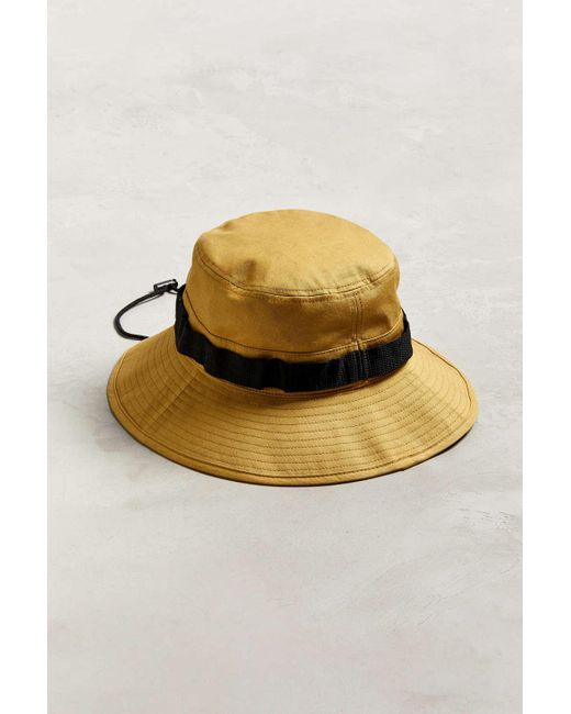 f76bc0b5244b1 Urban Outfitters - Yellow Boonie Drawstring Bucket Hat for Men - Lyst ...