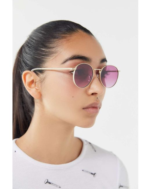 a27286f072a Komono - Pink The Taylor Round Sunglasses - Lyst ...