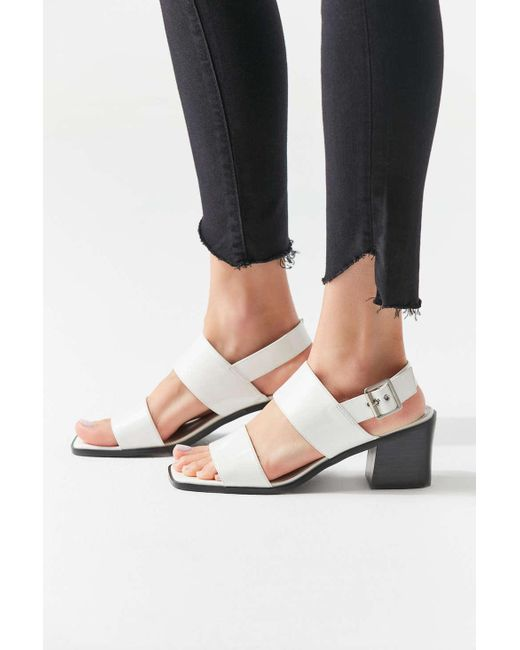 582e10086dc ... Urban Outfitters - White Uo Nicole Slingback Sandal - Lyst ...