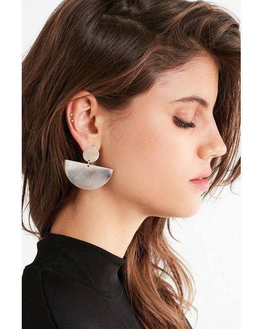 Urban Outfitters - Metallic Half Moon Drop Statement Earring - Lyst