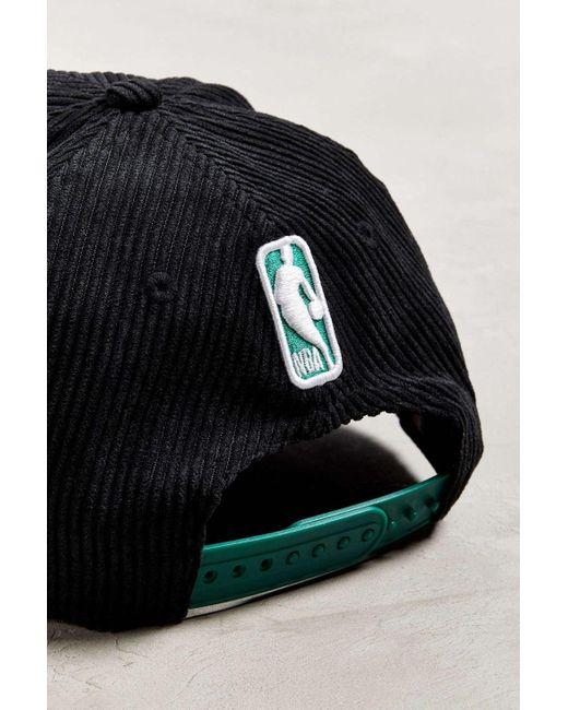 7f3e08f5b76 ... KTZ - Black Boston Celtics Retro Corduroy Snapback Hat for Men - Lyst  ...