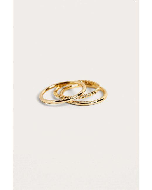 Urban Outfitters - Metallic Premium Ring Set - Lyst