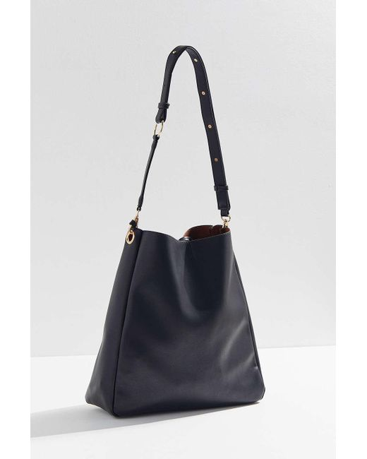 a7d9376513 ... Urban Outfitters - Black O-ring Shopper Tote Bag - Lyst ...