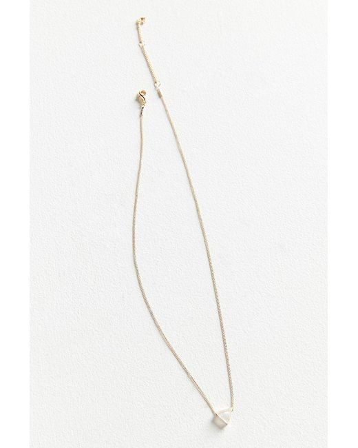 Urban Outfitters - Metallic Cecilia Delicate Triangle Pendant Necklace - Lyst