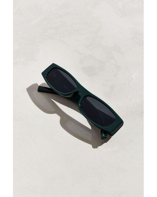 6172c2abc2 ... Urban Outfitters - Green Thick Temple Narrow Rectangle Sunglasses for  Men - Lyst ...