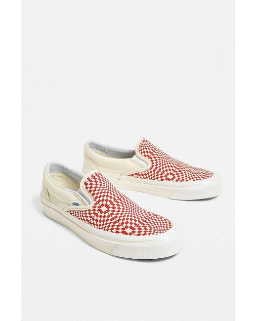 ad81462f585b Vans Classic Red Checkerboard Slip-on 98 Dx Trainers in Red - Lyst