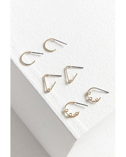 Urban Outfitters | Metallic Wire Hoop Earring Set | Lyst