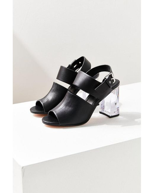 Urban Outfitters | Black Buckled Lucite Heel | Lyst