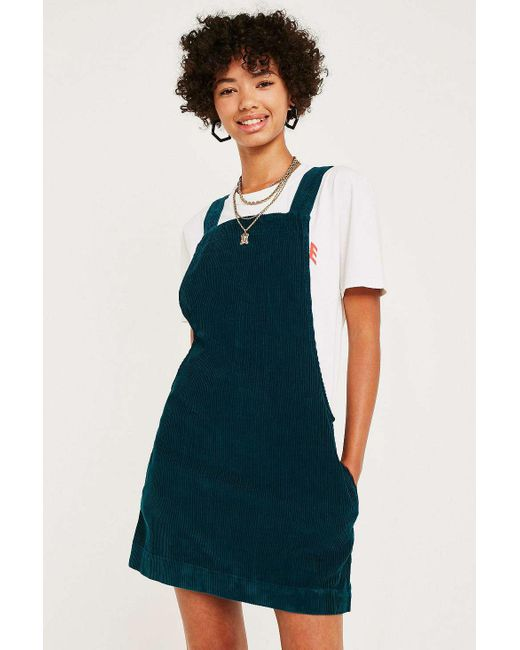 fe23927675 Urban Outfitters - Green Uo Gaia Corduroy Pinafore Dress - Lyst ...