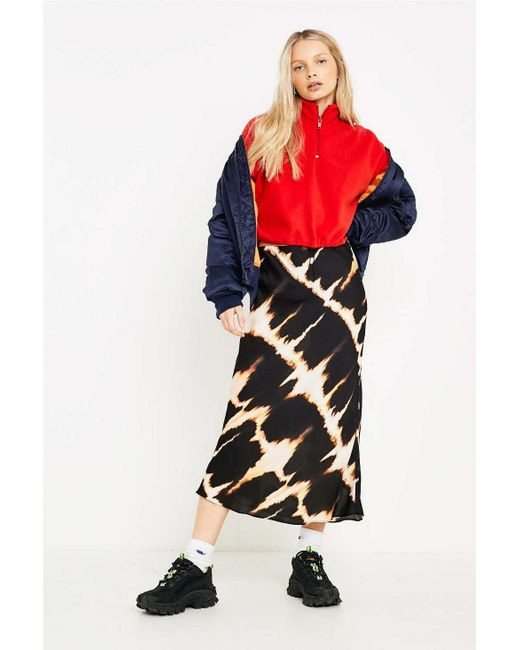 294fe96e249d1 Urban Outfitters - Multicolor Uo Tie-dye Satin Bias Cut Midi Skirt - Lyst  ...