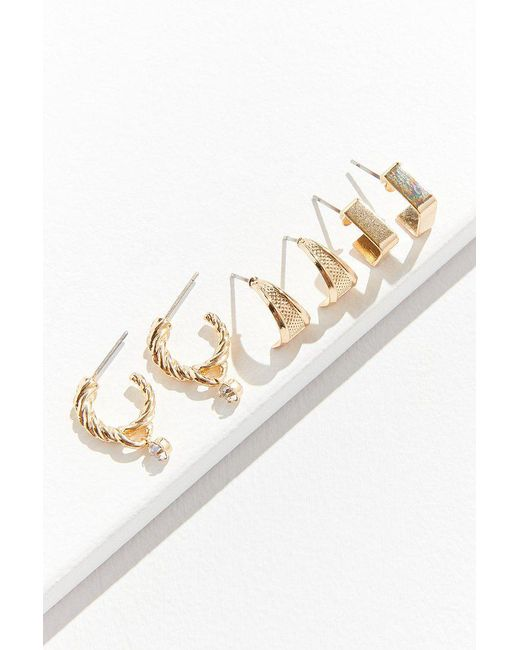 Urban Outfitters | Metallic Chunky Hoop Earring Set | Lyst