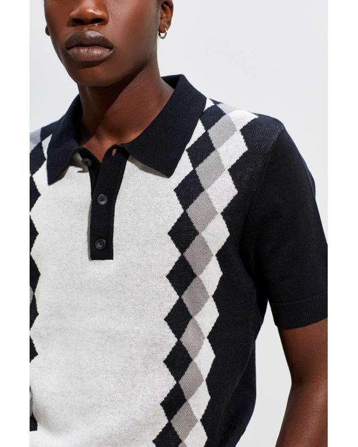 785d276196 ... Urban Outfitters - Black Uo Benny Sweater Polo Shirt - Lyst ...