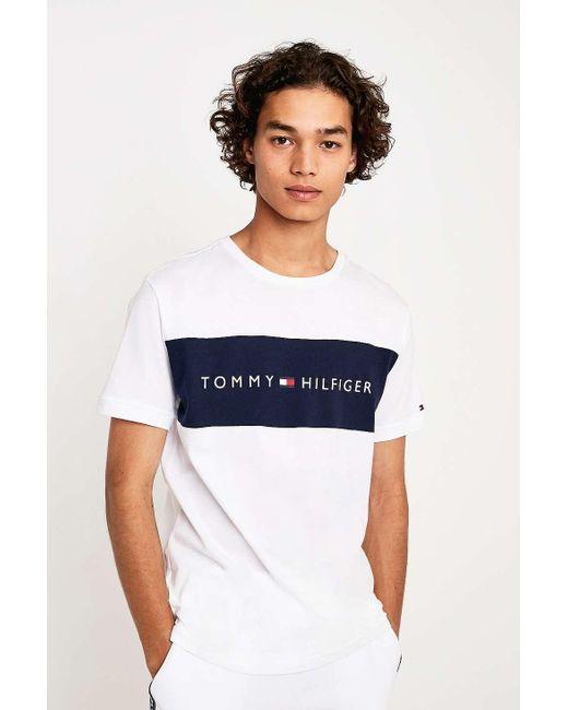 2230e826 Tommy Hilfiger Flag Logo White T-shirt - Mens L in White for Men - Lyst