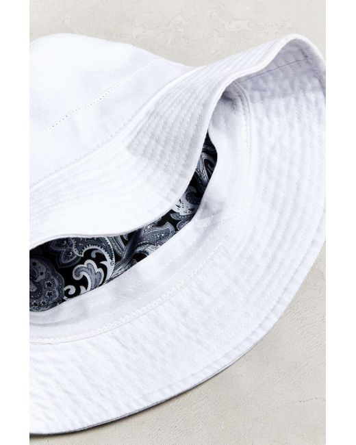 6af4976183bfc ... Urban Outfitters - White Uo Canvas Bucket Hat for Men - Lyst ...