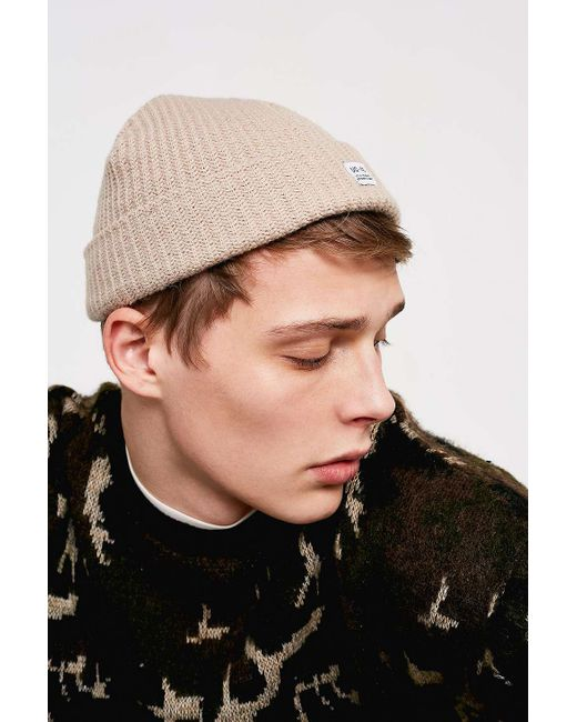 Urban Outfitters - Natural Uo Stone Mini Roll Beanie - Mens All for Men -  Lyst ... 57520bd6d3c