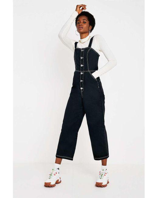 03736156a9 BDG - Black Button-through Jumpsuit - Womens Xs - Lyst ...