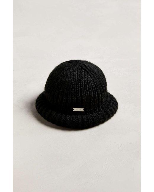 e081f6c9f55 Kangol - Black Rolled Beanie for Men - Lyst ...