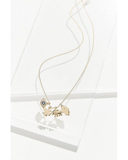 Urban Outfitters   Metallic Lucky Charm Short Chain Necklace   Lyst