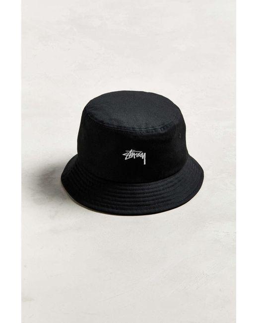 d22ade699c23a ... Stussy - Black Stock Bucket Hat for Men - Lyst ...