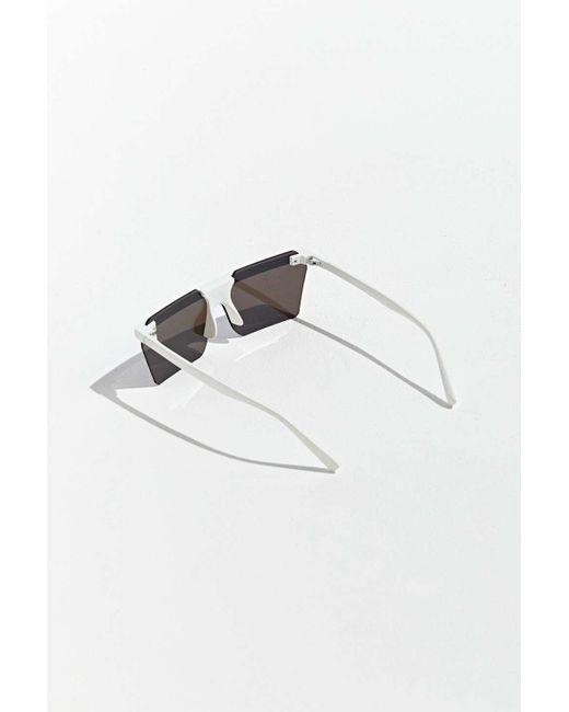 d6eaae5571 ... Urban Outfitters - White Frameless Mod Flat Lens Sport Sunglasses for  Men - Lyst ...