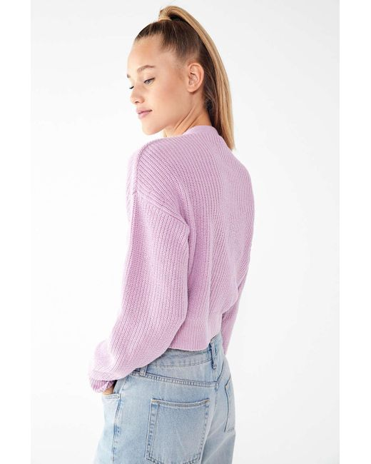 324cafe0bb ... Urban Outfitters - Purple Uo Kai Cropped Cardigan - Lyst ...