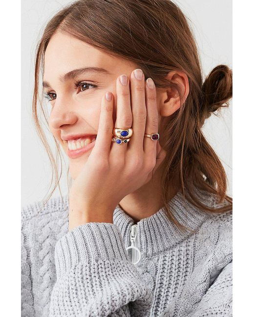 Urban Outfitters | Metallic Cyra Statement Ring Set | Lyst