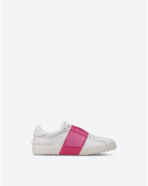 Valentino Elastic Band Sneaker in White | Lyst
