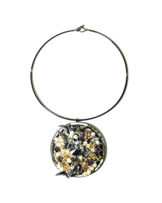 Heaven Tanudiredja | Metallic Round Medallion Necklace | Lyst